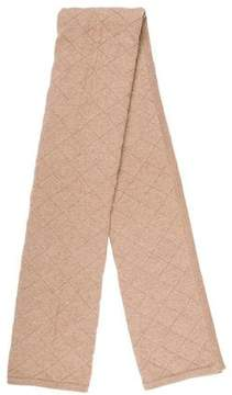 Valentino Quilted Cashmere-Blend Scarf