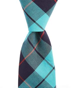 Roundtree & Yorke Open Plaids Narrow Tie