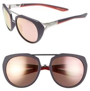 Women's Nike Flex Motion 54Mm Sport Sunglasses - Matte Cave Purple
