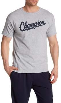 Champion Baseball Script Crew Neck Tee
