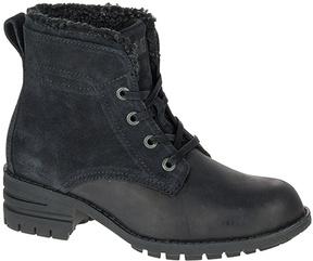 CAT Footwear Black Teegan Leather Ankle Boot
