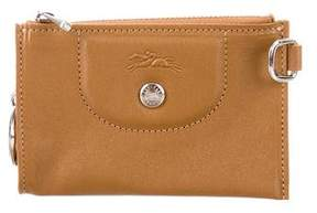 Longchamp Leather Zip Pouch