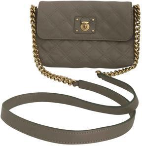 Marc Jacobs Single leather crossbody bag - BEIGE - STYLE