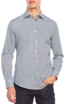 Ganesh Woven Square Dress Shirt