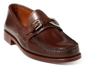 Ralph Lauren Thatcher Calfskin Loafer Dark Brown 11 D
