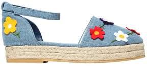 Stella McCartney Embroidered Denim Sandals W/ Patches
