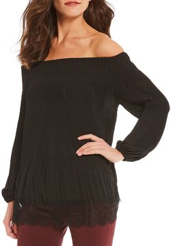 Alex Marie Isabella Off-The-Shoulder Pleated Blouse