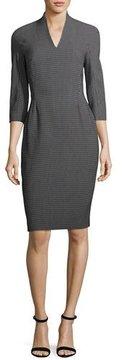 Escada Pixie-Print V-Neck Sheath Dress