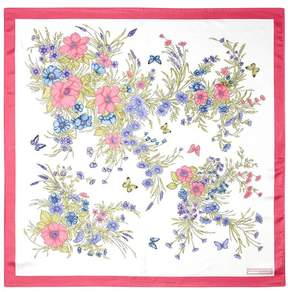 Aspinal of London Bouquet Of Flowers Silk Scarf In Blossom