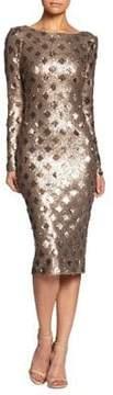 Dress the Population Metallic Sequin Bodycon Dress