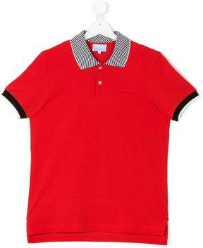 Lanvin Enfant contrasting collar polo shirt