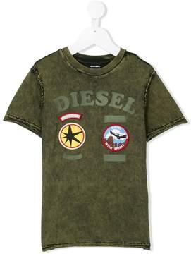 Diesel badge print T-shirt