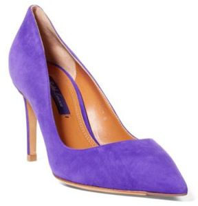 Ralph Lauren Armissa Suede Pump Purple 6.5