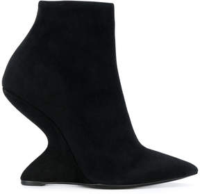 Salvatore Ferragamo sculpted heel ankle boots