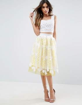 Asos Prom Skirt in Lace with Tulle Contrast Lining