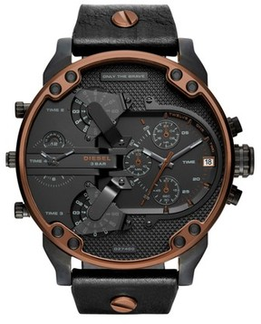 Diesel Mr. Daddy 2.0 Chronograph Leather Strap Watch, 57Mm