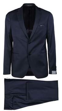 Cantarelli Men's 919322582491162 Blue Wool Suit.
