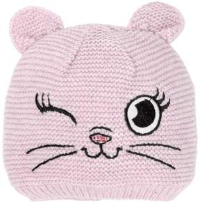 MonnaLisa Embroidered Blend Tricot Wool Hat
