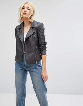 Noisy May Faux Leather Jacket