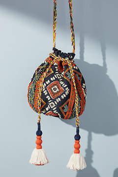 Anthropologie Catarina Beaded Mini Bucket Bag
