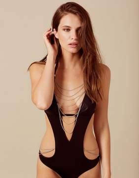 Agent Provocateur Tonya Swimsuit Black And Silver