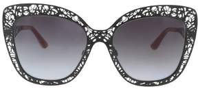 Dolce & Gabbana DG2164 0 Black Cat Eye Sunglasses