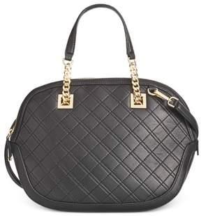 Calvin Klein Womens Leather Quilted Satchel Handbag
