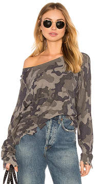 Central Park West Casper Camo Sweater