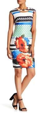 ECI Print Scuba Shift Dress