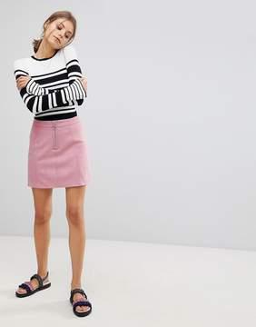 Esprit A Line Suedette Mini Skirt