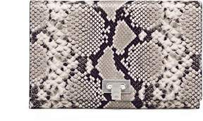 Tory Burch CARMEN EMBOSSED CLUTCH - NATURAL - STYLE