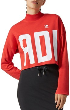 adidas Cropped High-Neck Sweatshirt