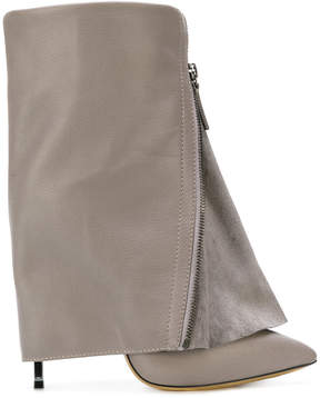 Casadei foldover ankle boots