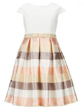 Bonnie Jean Little Girls 4-6X Solid/Metallic-Stripe Fit-And-Flare Dress