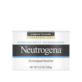 Neutrogena Transparent Facial Bar Soap, Face Wash & Cleanser Fragrance Free