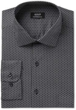 Alfani Men's Classic/Regular Fit Performance Geometric Print Dress Shirt, Created for Macy's
