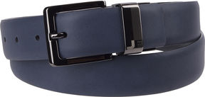 Jf J.Ferrar JF Feather Edge Reversible Belt with Laser Engraved Buckle - Big and Tall