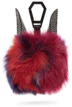 KENDALL + KYLIE Kendall & Kylie Bee Faux Fur & Leather Bag Charm