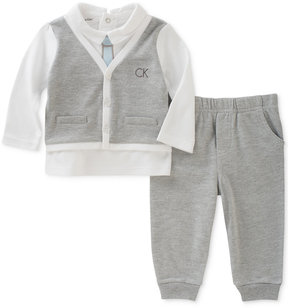 Calvin Klein 2-Pc. Vest Top & Pants Set, Baby Boys (0-24 months)