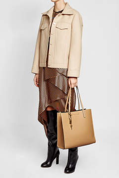 Marc Jacobs Leather Tote - BEIGE - STYLE