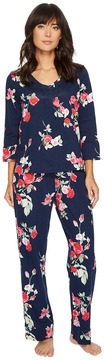 Carole Hochman Soft Jersey Floral Pajama Women's Pajama Sets