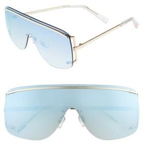 Le Specs Women's Elysium 140Mm Shield Sunglasses - Bright Gold