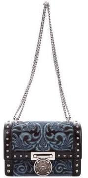 Balmain Studded Denim Flap Bag