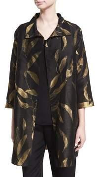 Caroline Rose Gold-Leaf Jacquard Party Jacket