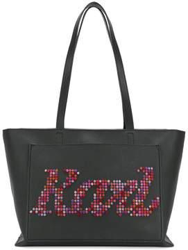 Karl Lagerfeld pixelated logo tote