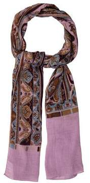 Etro Printed Textured Scarf