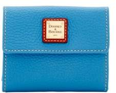 Dooney & Bourke Pebble Grain Small Flap Wallet - AZURE - STYLE