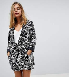 Asos Tailored Zebra Print Soft Blazer