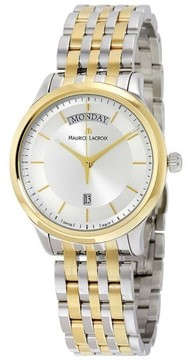 Maurice Lacroix Les Classiques LC1227-PVY13-130 Two Tone Stainless Steel 38mm Mens Watch