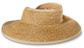 Merona Women's Straw Roll Up Visor Wrap Hat Tan